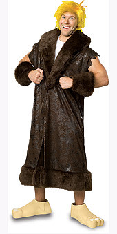 Barney Rubble Costume, Adult Deluxe The Flintstones
