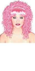 Pink Curly Hair Wig
