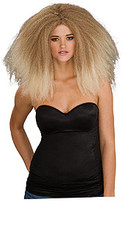 Beige Long Puffy Hair Wig