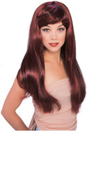 Red & Black Long Hair Wig