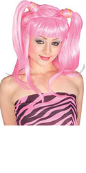 Light Pink Pig Tails Hair Wig