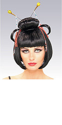 Geisha Wig, Black Fancy - Halloween Wig 2010