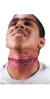 Bloody Nooses Neck Wound Prosthetic, Latex - Halloween 2010