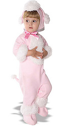 Baby Poodle Costume, Newborn and Infant Pink - Cute Halloween Costume