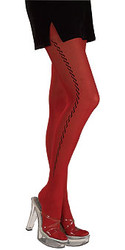 Goth Wave Red Tights, Stockings