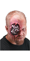 Bloody Cyborg Eye Wound Prosthetic, Latex - Halloween 2010
