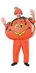 Inflatable Pumpkin Costume, Adult - Classic Halloween Costume 2010