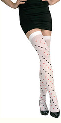 Queen of Hearts Casino Tights