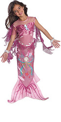 Pink Mermaid Girls Costume