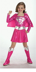 Pink Supergirls Child Halloween Costume