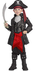 Captain Black Boys Pirate Costume