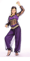 Arabian Princess Costume, Child Purple