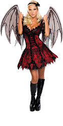 Fairy Immoral Costume Adult Sexy Fairy Halloween Dress & Wings