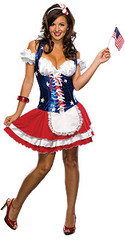 Firecracker female bustier Costume