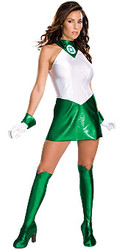 Green Lantern Costume, Adult Women Superhero - Halloween Costume