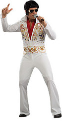Adult Elvis Presley White Jumpsuit