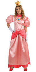 Super Mario, Princess Peach Deluxe Costume for Adults