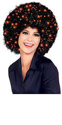 Black Fiber Optic Afro Hair Wig