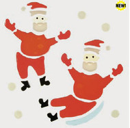 Snow Fun Santas GelGems Small Window Clings