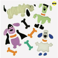 Dressy Upppy Puppy GelGems Small Window Clings