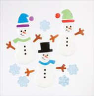 Snow Buddies Small GelGems window clings