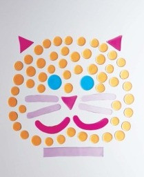 Cat dots GelGems Large GelGems Window Clings