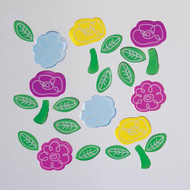 Doodle Flowers Small GelGems Window Clings
