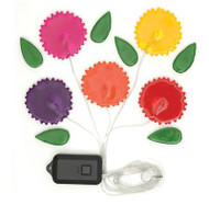 GemLites flower light up window clings