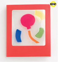 Balloon Gelgems Mini Greeting Card Gift Tags