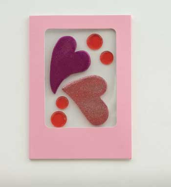 Glitter Hearts GelGems Greeting Cards