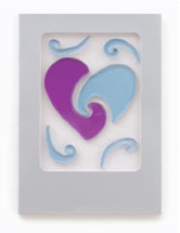 Joined Hearts GelGems Greeting Card