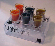 Set of 6 Assorted Colors LightLights Candles