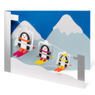 M. Cryan Cards (penguin skiers)