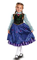 Disney Frozen Anna Deluxe Girls Costume
