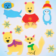 Arctic Buddies Gelgems Large Window Clings