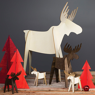Alpine Moose Wood Cut outs