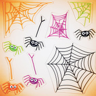 Smiling Spiders GelGems window clings