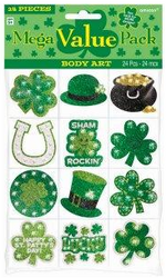 St. Pattys Day Body Jewels & Tattoos