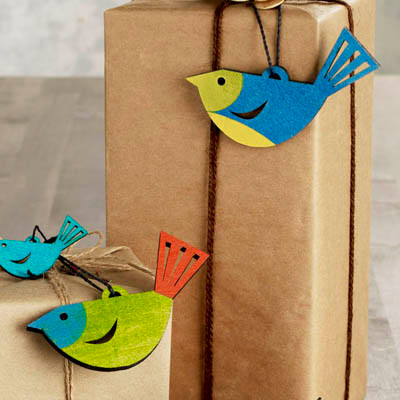 Finch™ Ornaments Set of 4