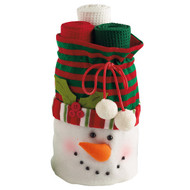 Snowman Gift Bag with Towels