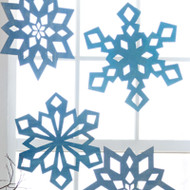 Snowfall Hanging Decoration: Large Blues