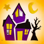Haunted Hood Large GelGems® Window Clings