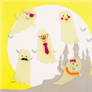 Ghosts in Costumes Small GelGems® Window Clings