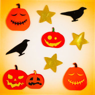 Haunted Jacks Small GelGems® Window Clings