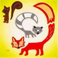 Forest Pals GelGems® Window Clings small