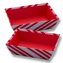 Candy Cane Stripe Rectangular tray
