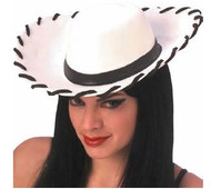 Foam white child's cowboy hat