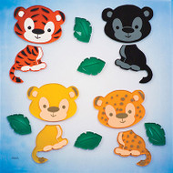 Jungle Cats GelGems® Large Window Clings