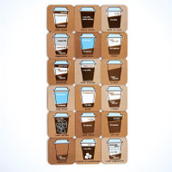 Coffee Mixology Magnets (Set of 16)