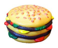 Pet squeaky Hamburger Prop Toy